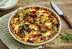 kinkku-kasvispiirakka Joko, Vegetable Pizza, Vegetables, Tarts, Cake Rolls, Pies, Veggies, Vegetable Recipes, Tart