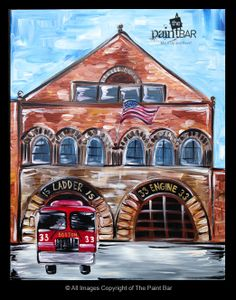 Engine 33 Firehouse Painting - Jackie Schon, The Paint Bar