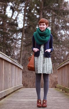 I love everything about this outfit, including and especially the colours! [The Clothes Horse: outfits]