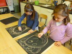 Schrijfdans rond thema sinterklaas 1) Tekenversje  Zwarte pietje, zwarte pietje met je vele krullen. Zwarte pietje, zwarte pietje krullen o zo veel. En een mutsje o zo ruim met daarop een grote pluim. Mooie kraag van hier naar daar. Zwarte pietje is bijna klaar. Art For Kids, Kids Rugs, Projects, Google, Sensory Activities, Gymnastics, Art For Toddlers, Log Projects, Art Kids