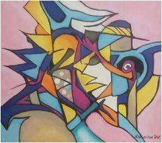 """Silvie Kreiselová """"Snadný terč"""" Acryl 35x40."""