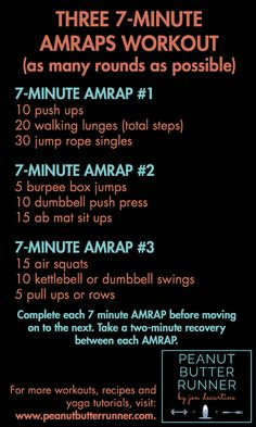Minute AMRAPs Workout A high intensity AMRAP workout for total body cardio and strength training.A high intensity AMRAP workout for total body cardio and strength training. Amrap Workout, Boot Camp Workout, Gym Workouts, At Home Workouts, Beginner Crossfit Workouts, Cross Fit Workouts, Total Body Workouts, Crossfit Challenge, Circuit Training Workouts