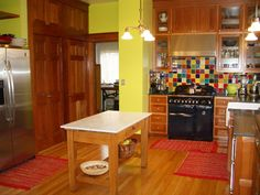 Pascale's Colorful Farmhouse Kitchen in Portland
