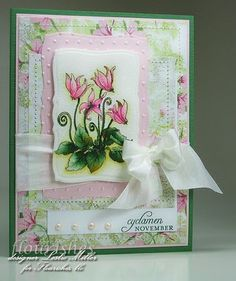 tulips with pearls card