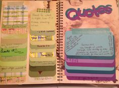 Stacked flip out style. Smashbook quotes page.