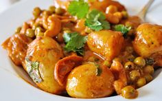 This meal is the complete nutritional package – with fiber from the peas, b vitamins from the coconut milk, a magical aroma from the spices, lycopene from the tomatoes, and of course fresh herbs for an added bit of flavor. Plus this dish is affordable, easy to make, and absolutely delightful to eat.