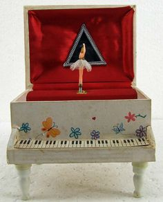 Vintage Retro Kitsch Piano Ballerina Wood Wooden Music Box Fascination Waltz Baby Nursery Decor by RetroCentsStudio on Etsy