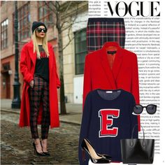 """Red Coat"" by gabriela2105 on Polyvore"