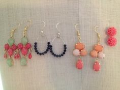 summer earrings  by Rebekah Bell | Project | Jewelry / Earrings | .  Materials at hobby lobby