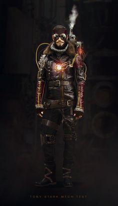 Nicolas Pierquin   Iron man steampunk - Tony Stark redesign