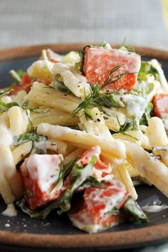 Creamy Pasta With Smoked Salmon, Arugula and Lemon Recipe - NYT Cooking