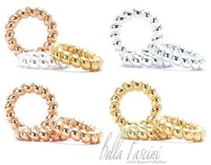 IN STOCK NOW:  Bella Fascini Luxury Designer Quality Silver, Rose Gold & 14k Gold Vermeil Petite Twist Spacers - 925 Sterling Silver European Charm Bracelet Bead - Fits Pandora & Compatible Brands: Jewelry