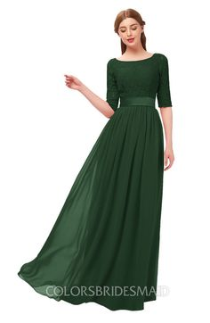 023e17acef ColsBM Payton Bridesmaid Dresses Sash A-line Modest Bateau Half Length  Sleeve Zip up