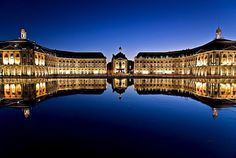 Bordeaux, Port of the Moon, Department of Gironde, Region of Aquitaine, France. Inscription in Criteria: (ii)(iv) Best Vacation Destinations, Dream Vacations, Aquitaine, Example Of Reflection, Chateau Bordeaux, Rue Sainte Catherine, Portugal, Ville France, Reflection Photography