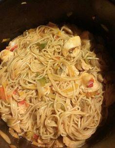 Nouilles chinoises au poulet   Recettes Cookéo