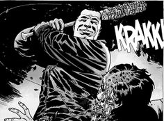 "Negan is coming to the Walking Dead- Fans of the comics know who exactly is getting introduced to ""Lucille"" in this pic... I'm very nervous."