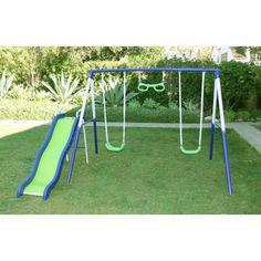 Sportspower Sierra Vista Metal Slides and Swing Set