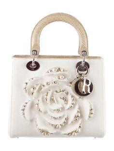 6fc35fbab1c9 Christian Dior Crocodile-Trimmed Lady Dior Bag Dior Handbags