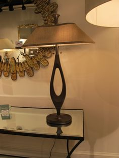 Did I mention the impact of circular shapes?  The Elongated O Lamp by Larry Laslo for Frederick Cooper emphasizes a leaning towards nurture and nature.  #HPMkt