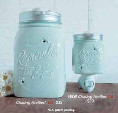 """Scentsy Mason Jar warmer """"chasing fireflies"""" available in a night light warmer as well. nathalieloves.scentsy.us"""