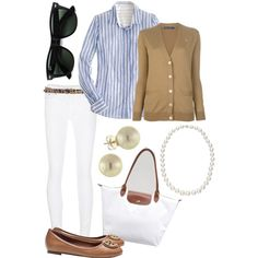 """Tan Cardigan and Cheetah Belt"" by l-woke-up-near-the-sea on Polyvore"