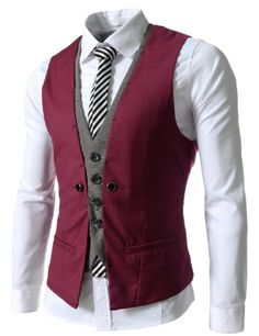 VE34 TheLees Mens premium layered style slim vest waist coat - Listing price: $48.56 Now: $33.99