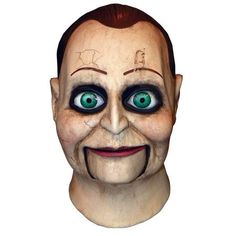 Dead Silence Billy Puppet Scary Evil Halloween Full Latex Mask Costume for sale online Latex Halloween Masks, Masque Halloween, Theme Halloween, Halloween Makeup, Halloween Costumes, Halloween Ideas, Halloween Stuff, Scary Costumes For Men, Halloween Prop