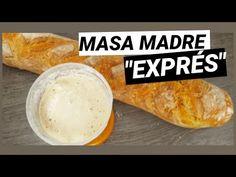 """¿ Por qué no crece mi MASA MADRE ?// """"RECETA EXPRÉS"""" cómo hacer masa madre. - YouTube Hamburger, Dairy, Bread, Cheese, Baking, Youtube, Food, Getting Drunk, How To Make"""