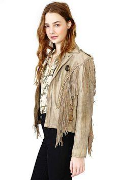 High Plains Leather Fringe Jacket
