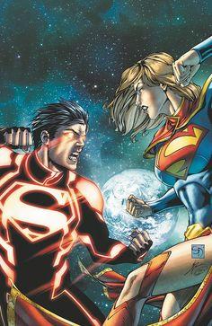 Shane Davis - Superboy vrs Supergirl
