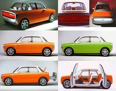 Ford 021C Concept Car -1999 Named for the designer's favorite Pantone color.