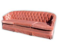 Vintage Hollywood Regency Rose Tufted Sofa Pink 7 by studio180, $475.00