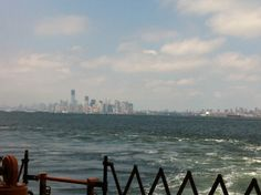 Emerald City, er lower Manhattan in the distance. Almost home from a couple hours cycling on Staten Island. June 17, 2012.