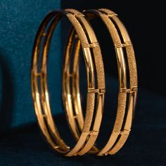 Plain Gold Bangles jewellery for Women by jewelegance. ✔ Certified Hallmark Premium Gold Jewellery At Best Price Gold Ring Designs, Gold Bangles Design, Gold Earrings Designs, Gold Jewellery Design, Diamond Jewellery, Amrapali Jewellery, Diamond Bangle, Antique Jewellery, Plain Gold Bangles