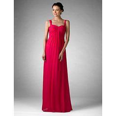 Bridesmaid Dress Floor Length Chiffon Empire Sweetheart Dress  – GBP £ 51.09