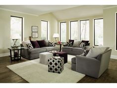 Radiance Pewter 3 PC Living Room Package   Value City Furniture Plum Living  Rooms,