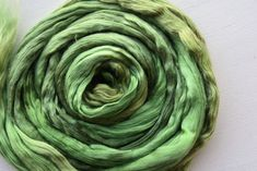 Nuno Felting, Needle Felting, Mulberry Silk, Fiber Art, Spinning, Vibrant Colors, Collections, Green, Hand Spinning
