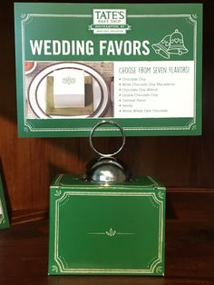 Ask us about our wedding favors!