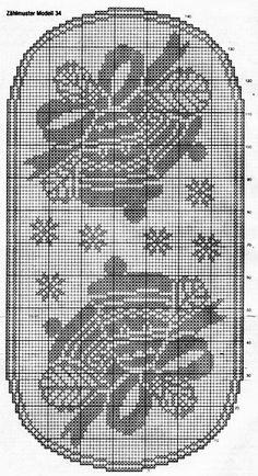 Crochet Table Runner, Crochet Tablecloth, Crochet Doilies, Crochet Tunic Pattern, Crochet Blanket Patterns, Cross Stitch Designs, Cross Stitch Patterns, Filet Crochet Charts, Fillet Crochet