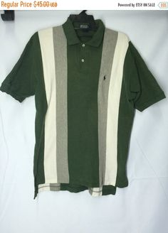 SALE 30% Polo Ralph Lauren Shirt Mens Medium Polo Ralph Lauren Shirt Polo Men's Size M by MudeanDean