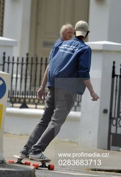 EXC - Monaco Royal Andrea Casiraghi out skateboarding in London