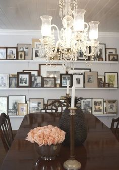 picture wall- I really want to do this.. except some of the pictures you can't even see.. hmm!!