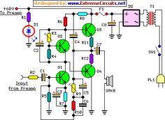 60 Watt Guitar Amplifier circuit project