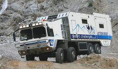 The Action Mobil Desert Challenger is an off-road motorhome and is among the biggest all-wheel vehicles around the world so far. Off Road Rv, Off Road Camping, Man Kat, Hors Route, Rv Financing, Fifth Wheel Trailers, Landrover, Expedition Vehicle, Cars Motorcycles