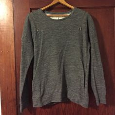 J BRAND Sweatshirt // Size S Amazing sweatshirt with side pockets and zippered shoulders. Loved, but in great condition. J Brand Sweaters Crew & Scoop Necks