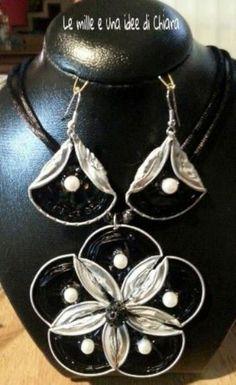 Nespresso ciondolo e orecchini- necklace and earings www.facebbok.com/lemilleeunaideedichiara