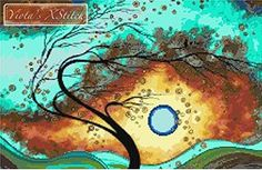 Family Joy By Megan Duncanson - Abstract Modern Counted Cross Stitch Ki