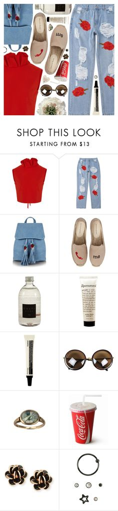 """""""Penny Lane, The Beatles"""" by blendasantos ❤ liked on Polyvore featuring SemSem, Skinnydip, Patricia Green, Culti, philosophy, Chantecler, ruffles and ruffledtops"""