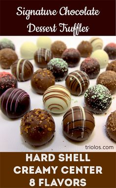 Our Chocolate Truffle Gift Box is packed with thirty-two chocolate truffles in a variety of eight gourmet and savory flavors.