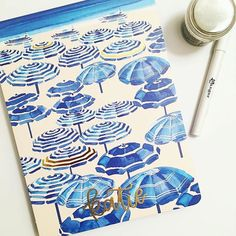 How beautiful is this calligraphy that @elizabethjordancalligraphy did on one of our journals?! Love the use of embossing!☂️  •  •  •  #atPS #PaperSource #SundaySpotlight #DIY